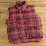 L.L.Bean Check Down Vest 【Small】