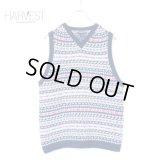 LAND`S END Cotton Knit Jacquard Vest