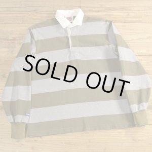 画像: BARBARIAN バーバリアン ボーダー ラガーシャツ カナダ製 【Mサイズ】